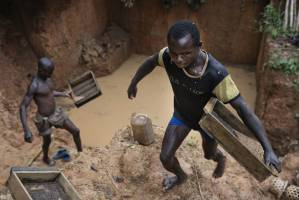 Diamond mines in Central African Republic/ Mines de diamants en République Centrafricaine