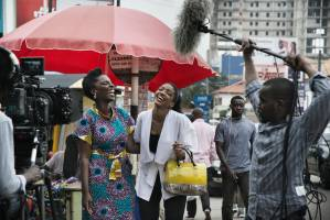 """An African City"" TV show / Sur le tournage de la sÈrie tÈlÈ ""An African City"""